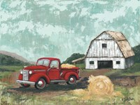 Red Truck at the Barn Fine-Art Print