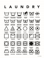 Laundry Symbols Fine-Art Print