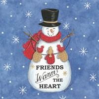 Friends Snowman Fine-Art Print