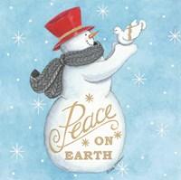 Peace on Earth Snowman Fine-Art Print