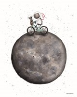 Bike on Moon Fine-Art Print