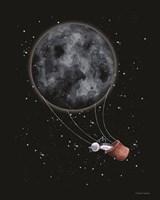 Moon Hot Air Balloon Fine-Art Print