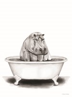 Hippo in Tub Fine-Art Print