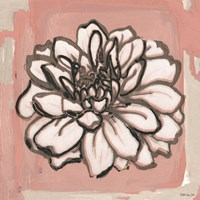 Pink and Gray Floral 2 Fine-Art Print