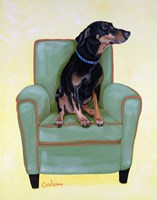 Dobie on Green Fine-Art Print