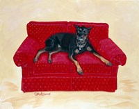 Dobie on Red Fine-Art Print