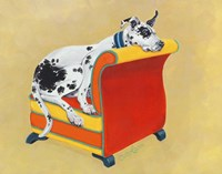 Great Dane on Orange Fine-Art Print