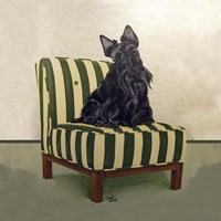 Scottie on Stripes Fine-Art Print