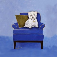 Westie on Blue Fine-Art Print