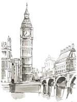 Pen & Ink Travel Studies II Fine-Art Print