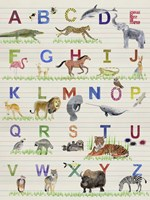 Alphabet Animals Fine-Art Print