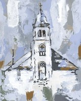 Cerulean Spire I Fine-Art Print