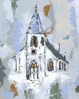 Cerulean Spire II Fine-Art Print