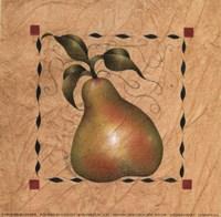 Stenciled Pear I Fine-Art Print