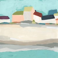 Coastal Village I Fine-Art Print