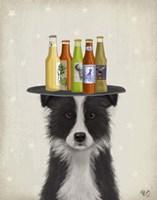 Border Collie Black White Beer Lover Fine-Art Print