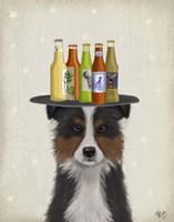 Border Collie Tricolour Beer Lover Fine-Art Print