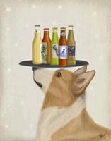 Corgi Tan White Beer Lover Fine-Art Print