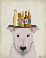 English Bull Terrier Beer Lover Fine-Art Print