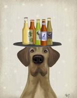 Great Dane Tan Beer Lover Fine-Art Print