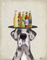 Great Dane Harlequin Beer Lover Fine-Art Print