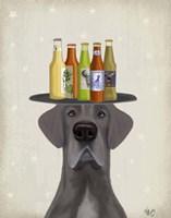 Great Dane Blue Beer Lover Fine-Art Print
