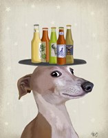 Greyhound Tan Beer Lover Fine-Art Print