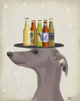 Greyhound Grey Beer Lover Fine-Art Print