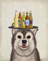 Husky 1 Beer Lover Fine-Art Print