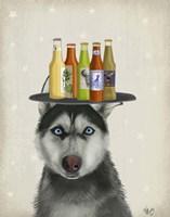 Husky 2 Beer Lover Fine-Art Print