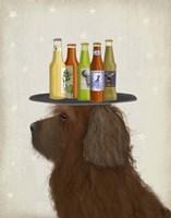 Labradoodle Brown 2 Beer Lover Fine-Art Print