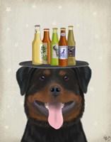 Rottweiler Beer Lover Fine-Art Print