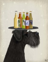 Schnauzer Black Beer Lover Fine-Art Print