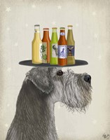 Schnauzer Grey Beer Lover Fine-Art Print