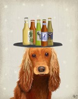 Cocker Spaniel Golden Beer Lover Fine-Art Print