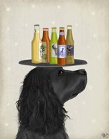 Cocker Spaniel Black Beer Lover Fine-Art Print