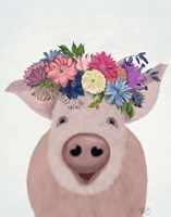 Pig and Flower Crown Fine-Art Print