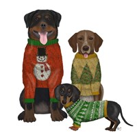 Christmas Des - Ugly Christmas Sweater Competition Fine-Art Print