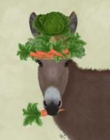 Donkey Carrot Hat Fine-Art Print