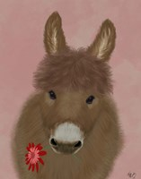 Donkey Red Flower Fine-Art Print