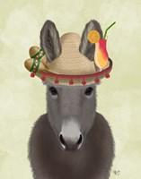 Donkey Sombrero Fine-Art Print