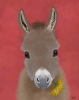 Donkey Yellow Flower Fine-Art Print