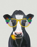 Cow and Flower Glasses Fine-Art Print