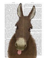 Funny Farm Donkey 1 Book Print Fine-Art Print