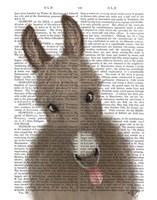 Funny Farm Donkey 2 Book Print Fine-Art Print