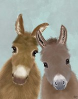 Donkey Duo, Looking at You Fine-Art Print