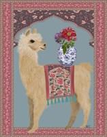 Llama Chinoiserie 3 Fine-Art Print