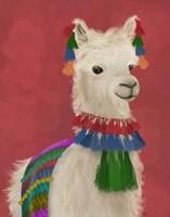 Llama Traditional 1, Portrait Fine-Art Print