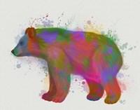 Bear Rainbow Splash 2 Fine-Art Print