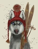 Husky, Skiing Fine-Art Print